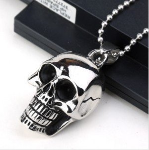 Big and Heavy Stainless Steel Skull Pendant Necklace For Men Fashion Charm Men Jewerly New 2015