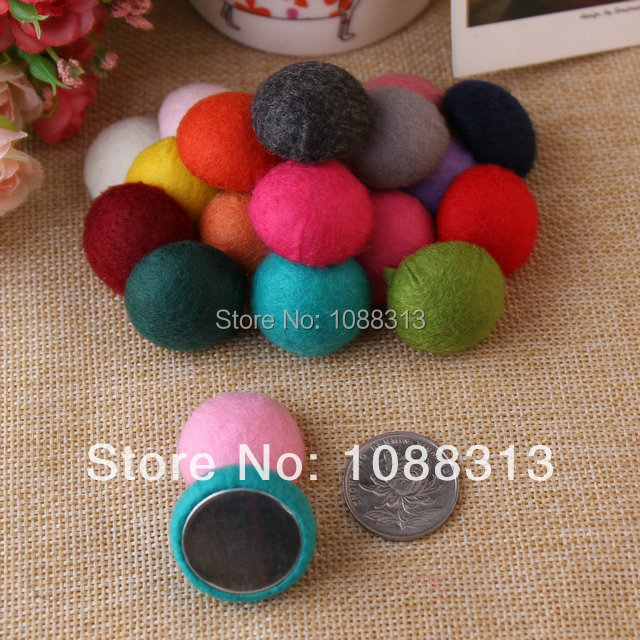 Big size 26mm round shape wool felt handmade flatback buttons.Free shipping 50pcs mix colors DIY jewelry material.Одежда и ак�е��уары<br><br><br>Aliexpress