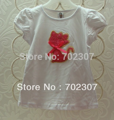 2015 NEW design B2w2 girls short-sleeved t shirt plain children's top free shipping 5pcs/lot GT-003(China (Mainland))