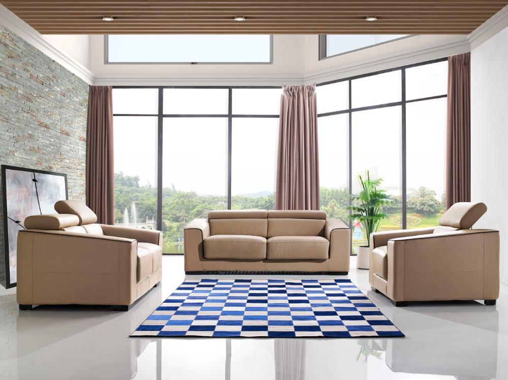 Genuine leather sofa bed compra lotes baratos de genuine for Compra de sofas baratos