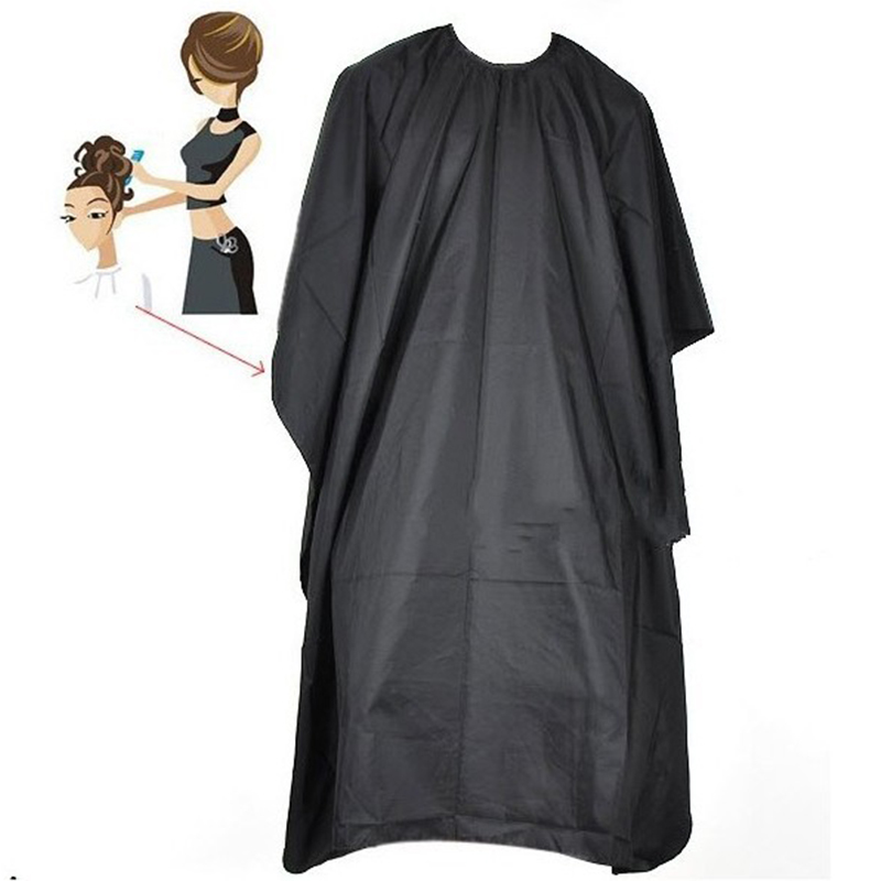 Salon Adult Waterproof Hair Cutting Hairdressing Cloth Barbers Hairdresser Cape Gown Wrap Black Big Size 140*100(China (Mainland))