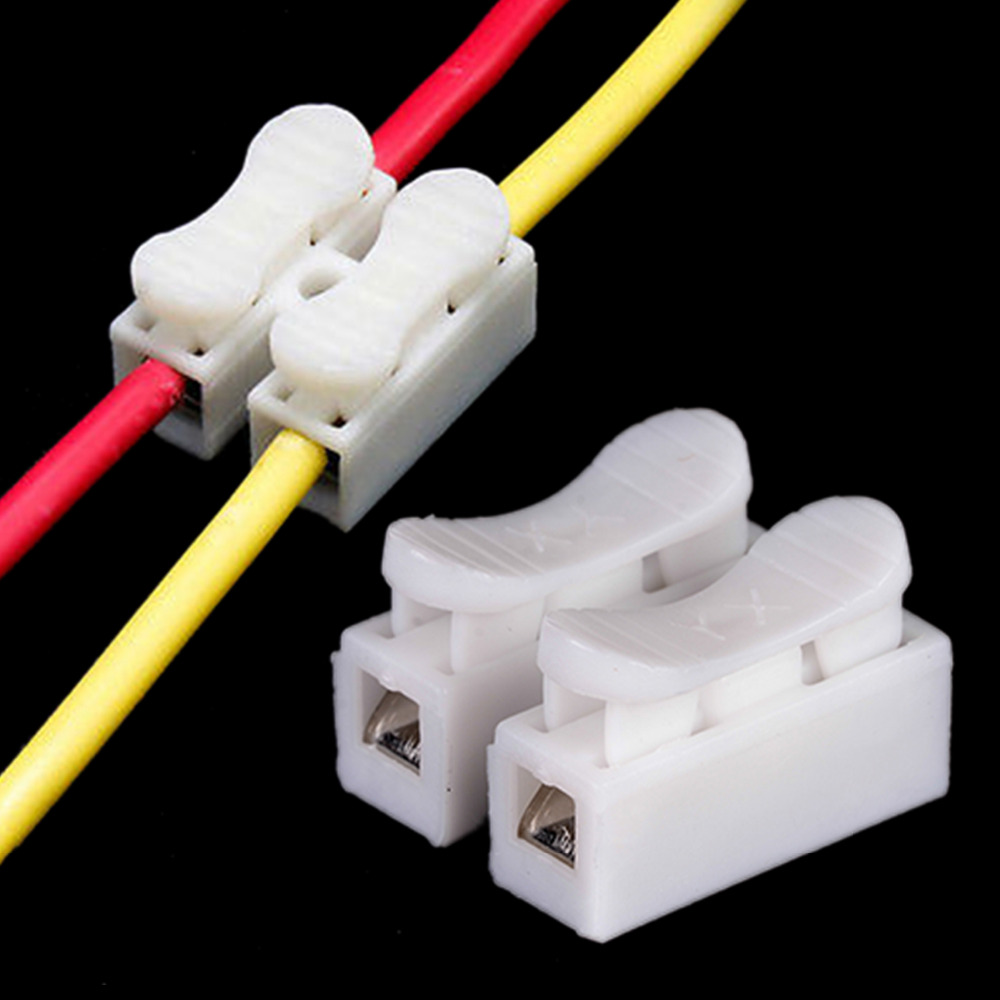 30pcs lot 2 Pins Electrical Cable Connectors CH2 Quick Splice Lock Wire Terminals(China (Mainland))
