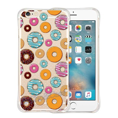 Delicious Ice Cream Chocolate Pudding Pattern Soft Clear Silicon TPU Phone Coque Case Cover For iPhone 5 5s SE 6 6s plus Case
