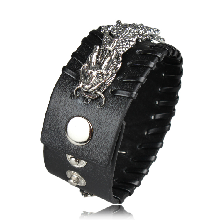 Aliexpress.com : Buy Cool Rock Dragon Bracelet Men Woman ...