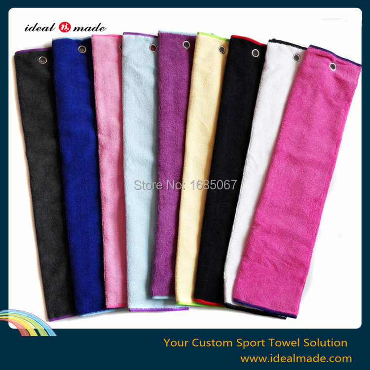 Free shipping! custom logo terry style tri fold Golf Towel Assortment (10 colors)(China (Mainland))