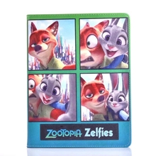 Zootopia rabbit Judy Hopps and red fox Nick Wilde PU Leather Stand Flip Case Cover for Apple Tablet iPad2/iPad3/iPad4(China (Mainland))