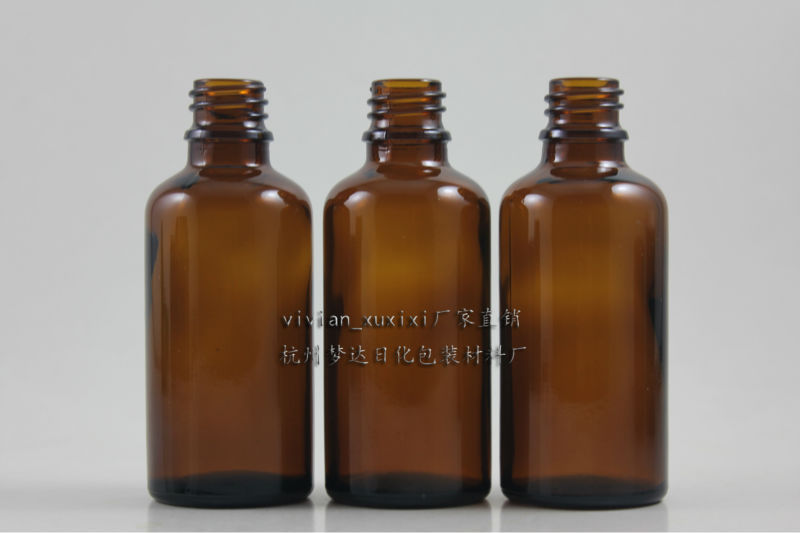 50ml brown Glass Essential Oil Bottle Without any cap,could match with sprayer/pump/dropper cap,glass container,18mm<br><br>Aliexpress