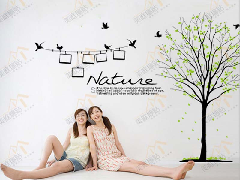 Removable Home Decoration Tree Wall Decals Quotes Nature Home Decor Flying Birds Vinyl Mural Room Decals Giant Wall Art