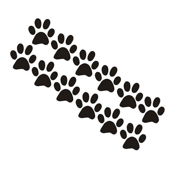 """[B.Z.D] Free Shipping Home Decor Paw Prints Group Kids Pets Dog Cat Wall Stickers Wall Decals 12 (2"""" x 2"""" paw prints)(China (Mainland))"""