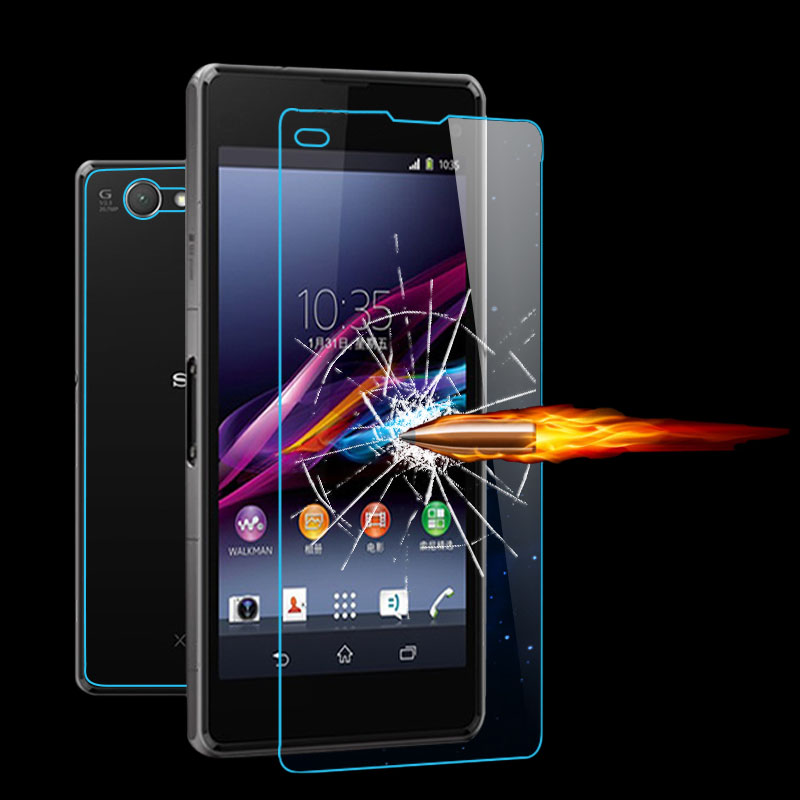 For Sony Xperia Z Z1 Z2 Z3 Z4 Mini Compact T2 T3 C3 C4 M2 M4 Aqua S39H 0.30mm 9H Premium Tempered Glass Screen Protector Flim(China (Mainland))
