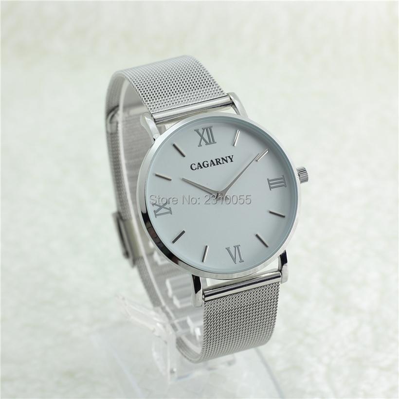 Super Slim Quartz Casual Wrist Watch Simple CAGARNY Brand Stainless Steel Quartz Watch Men's 2016 Relojes Hombre