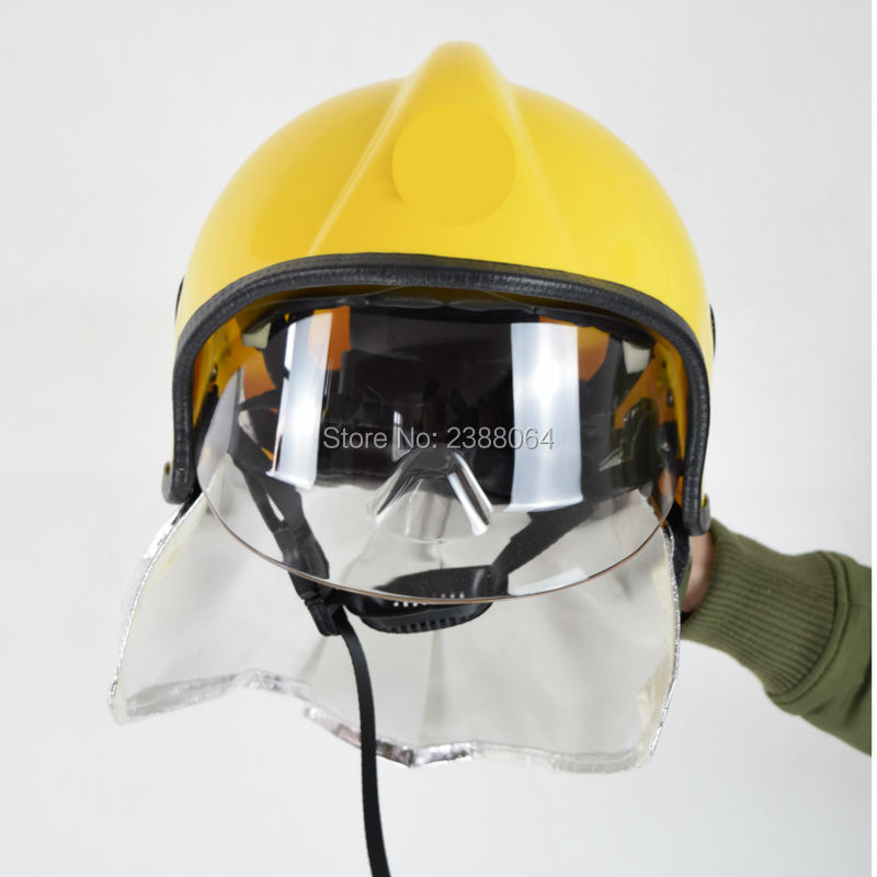 Free Shipping Can Resistant 300 Degree PEI Fire Fighting Fireman Safety Helmet