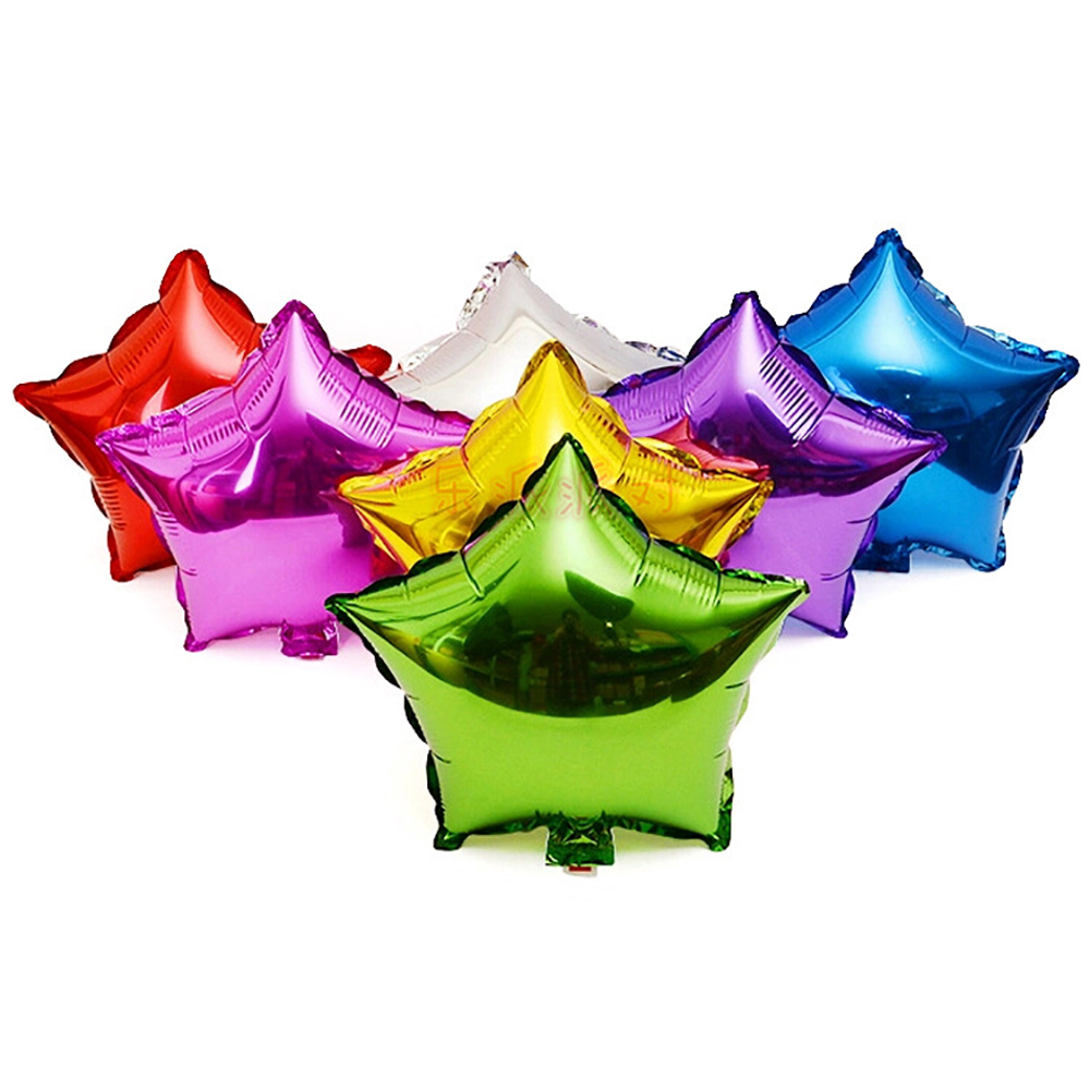 HOT10pcs/lot 10inch Five-Point Star balloons Promotion Toy For Party Inflatable Ballons Aluminum Foil Balloon free shipping(China (Mainland))