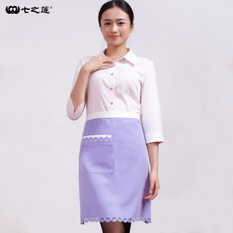 Seven new lotus lace series 30047 Korean Ladies beauty shop baby body work apron(China (Mainland))