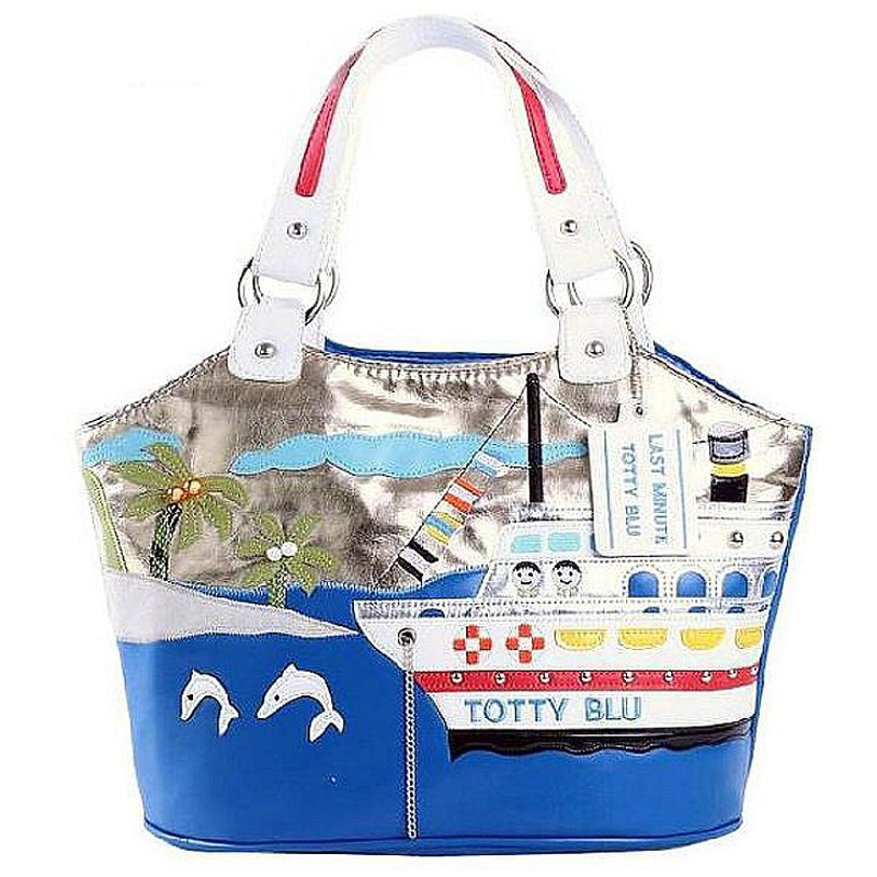2016 Borsa Tottyblu Braccialini brand Italy Handicraft Art Holiday Cruise bags women Shoulder Bag Female Tote Bag Handbag(China (Mainland))