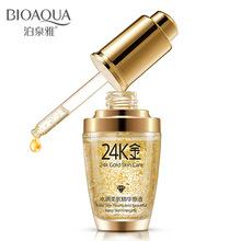 bioaqua oil 24k gold liquid face skin moist light muscle essence hyaluronic acid anti wrinkle serum facial care - BaLaLa store