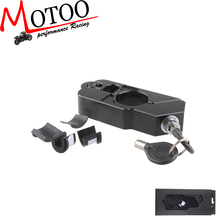 Motoo - Universal PRO BIKE BRAND NEW GRIP LOCK SECURITY LEVER LOCK BREAK & THROTTLE LOCK BLACK(China (Mainland))