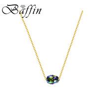 BAFFIN Retro potężny Scarab Bead naszyjniki wisiorek kryształy Swarovskiego kolor złoty łańcuch obroże dla kobiet mężczyzn akcesoria(China)