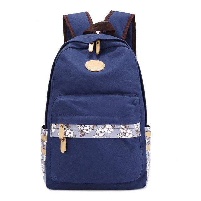 Свежий стиль цветы шаблон холст школьные сумки для ноутбуков рюкзаки рюкзак дорожные сумки для девочек женщины Bolsas Mochila эсколар