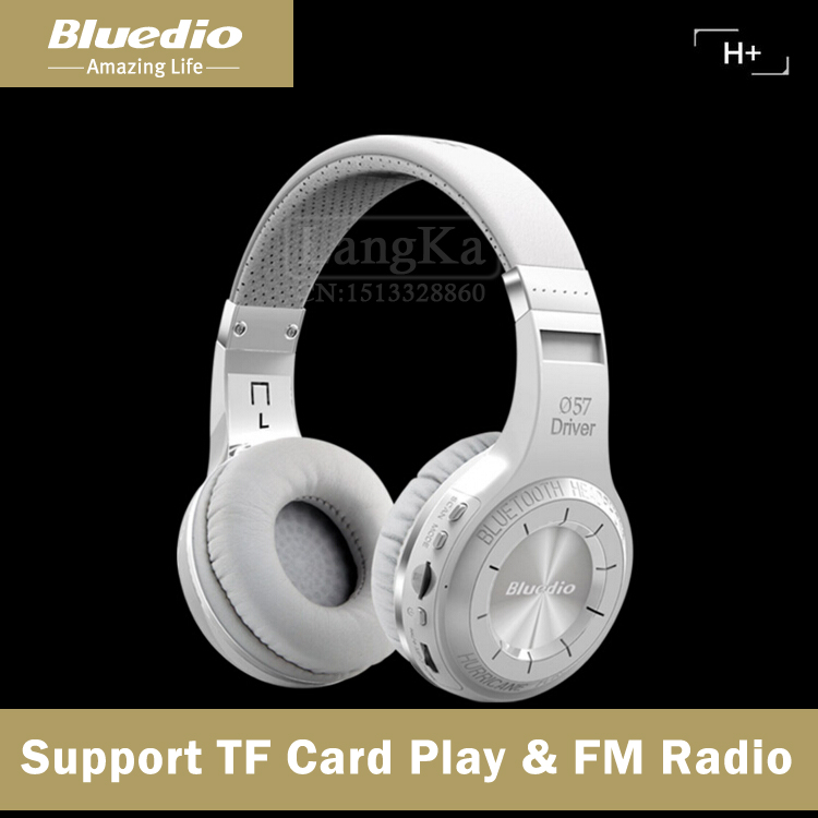 Bluedio H+ Wireless Bluetooth Hands Free Headset Super Bass Music Headphone with Line-in Socket Microphone TF Card Slot(China (Mainland))