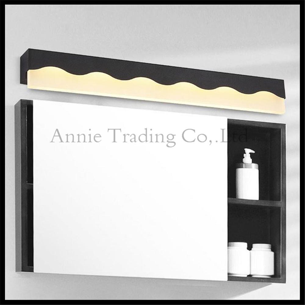 Moderne led acryl spiegel lampen schwarz oder weiß badezimmer make up eitelkeit lichter l40cm15in