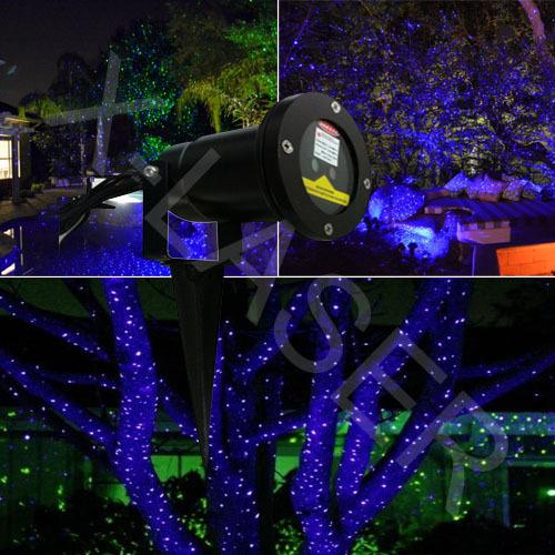 Blauwe laser verlichting voor buiten tuin kerst decoratie landschap verlichting laser gazon - Outdoor licht tuin ...