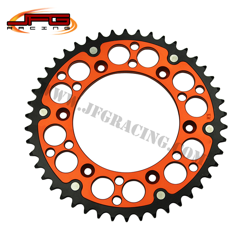 46T CNC REAR 520 SPROCKETS FOR KTM SX EXC SMR SMCR SXF OFF ROAD MOTORCYCLE MOTOCROSS SUPERMOTO