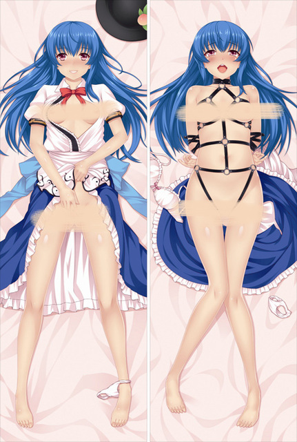 Free Shipping Anime Dakimakura hugging pillow case   Touhou Project  Hinanawi Tenshi  DF331