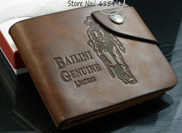 Free shipping 2014 Men's brown leather wallet casual case grain purse retail leisure Antique snap wallets cowhide card package