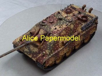 [Alice papermodel] 1:18 World War II German tank destroyer SdKfz 173 Jagdpanther Ausf.G army armed vehicle models