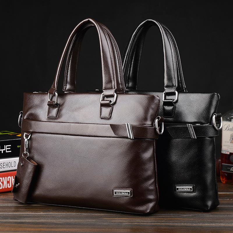 Men Briefcase Business Shoulder Genuine Leather Bag Computer Laptop Handbag Bag Men's brand POLO Men Shoulder Bag Messenger Bag(China (Mainland))