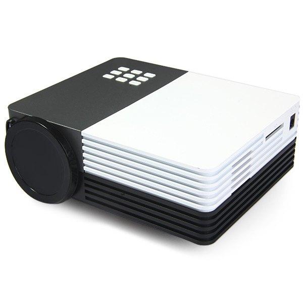 Фотография Mini GM50 LED Projector Proyector 480x320 Pixels Theater Support HDMI VGA AV Portable Beamer Multimedia Remote Control Projector