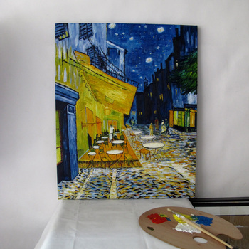 Van Gogh oil painting (The Cafe Terrace on the Place du Forum, Arles, at Night, c.1888) handmade reproduction paintings  U2VG01