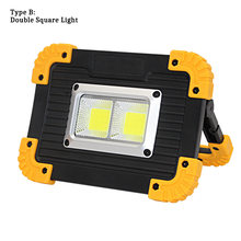 2019 New LED Portable Spotlight 30000LM Powerful LED Work Lamp Rechargeable Light Waterproof for Outdoor Camping Work 18650(China)