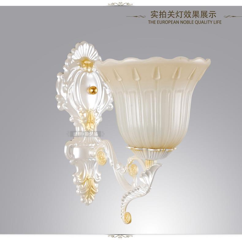 2014 new pearl of European background living room wall lamp bedroom bedside lamp<br><br>Aliexpress