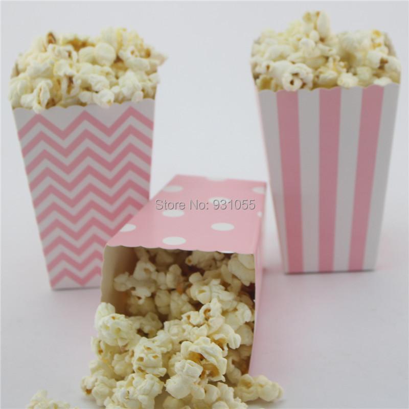 lot baby shower decoration pink girl blue boy paper cinema popcorn