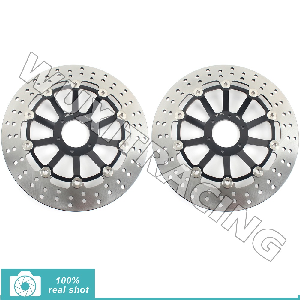 Round New Front Brake Discs Rotors Honda CB F HORNET 600 S F2 00 01 02 03 04 05 06 599 2005 2006  -  Wuxi Thai-Racing Trade Co., Ltd. store