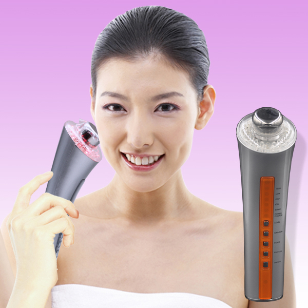 Фотография Free Shipping skin care beauty wrinkle removal device ultrasonic photon microcurrent  facial massager