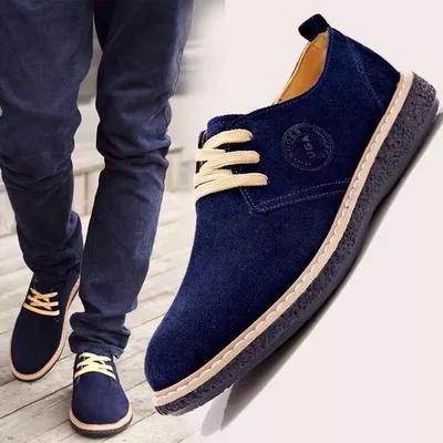 Бесплатная доставка весна зима мужской обуви свободного покроя обувь из натуральной ...