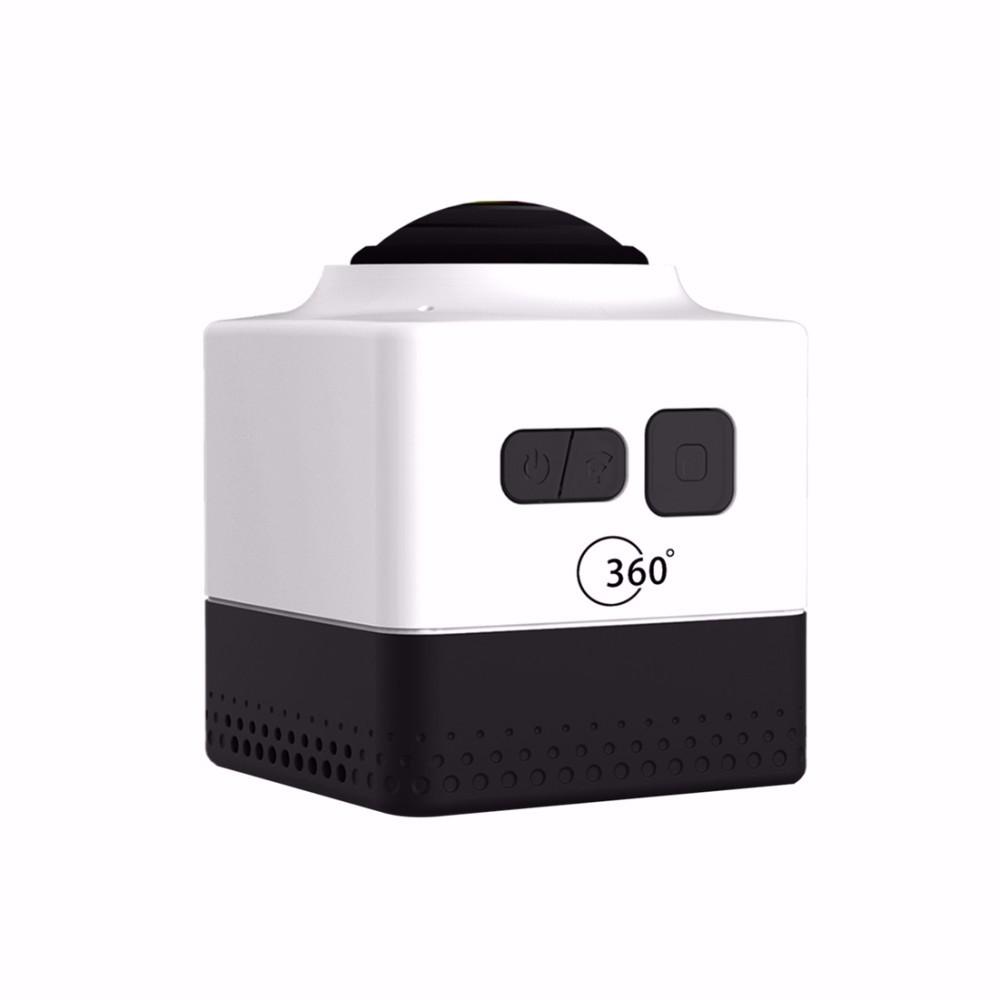 ถูก 2016ใหม่ร้อนขายa ctiongกล้องCUBE 360 720จุดพาโนรามาVRกล้องB Uild-in WiFiมินิกีฬาการกระทำกล้อง+ monopod