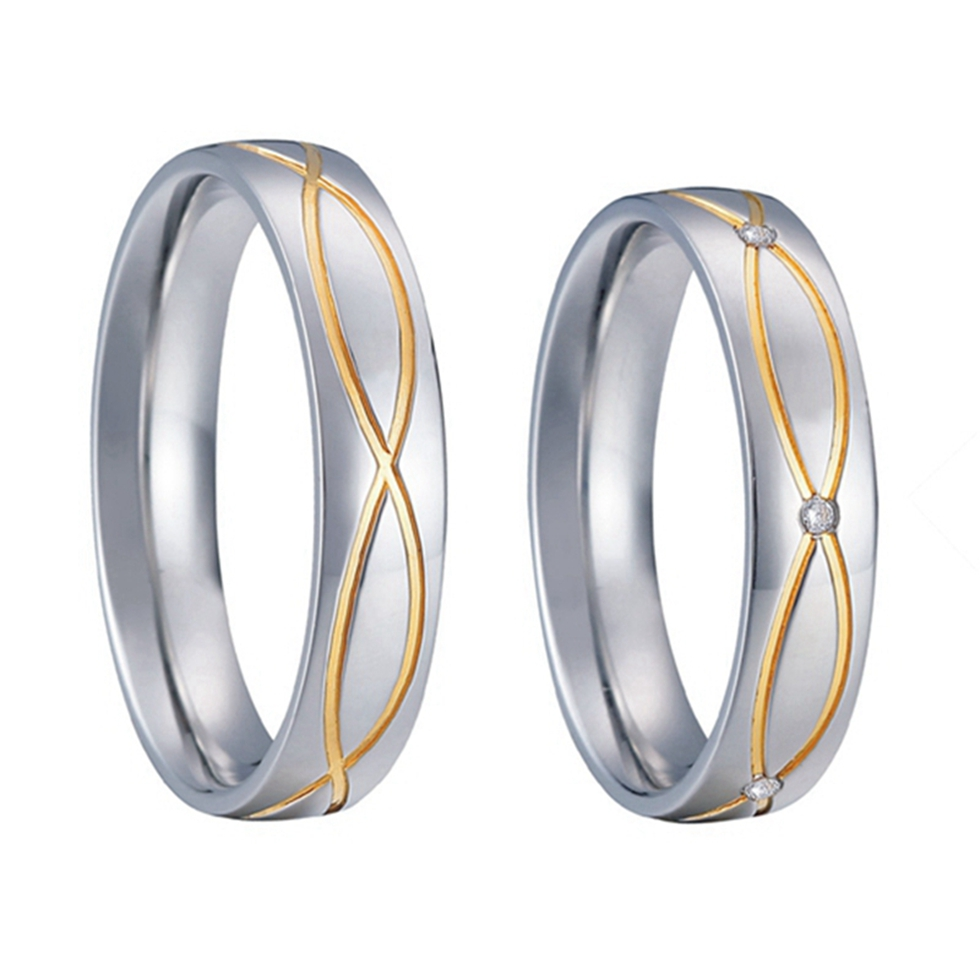 vintage promise wedding rings pair titanium steel gold filled rings handmade jewellery never fade life collection - Cheap Wedding Rings Online