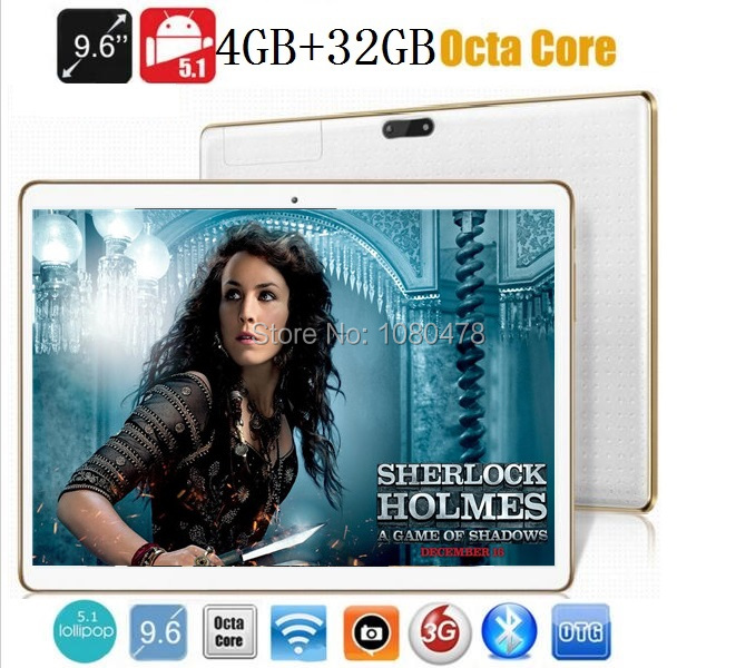 9.6 inch tablet pc Octa core bluetooth wifi GPS 1280*800 5.0MP 4GB 32GB Android 5.1MID 3G WCDMA Phablet DHL Free shipping(China (Mainland))