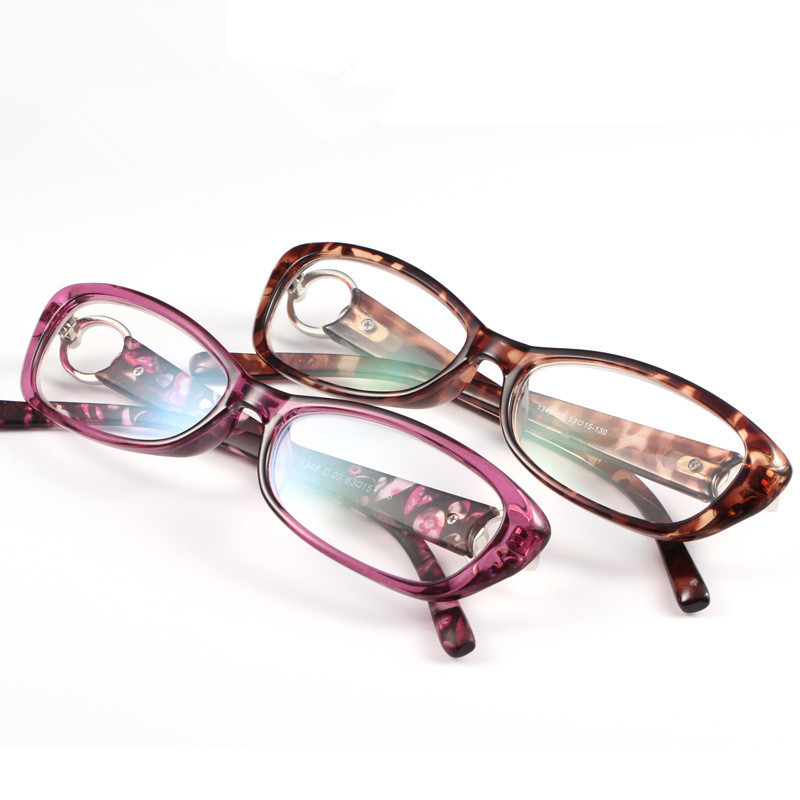 Brand Design Women Reading Glasses Purple And Leopard Colorful Fashion Glasses For Reading In