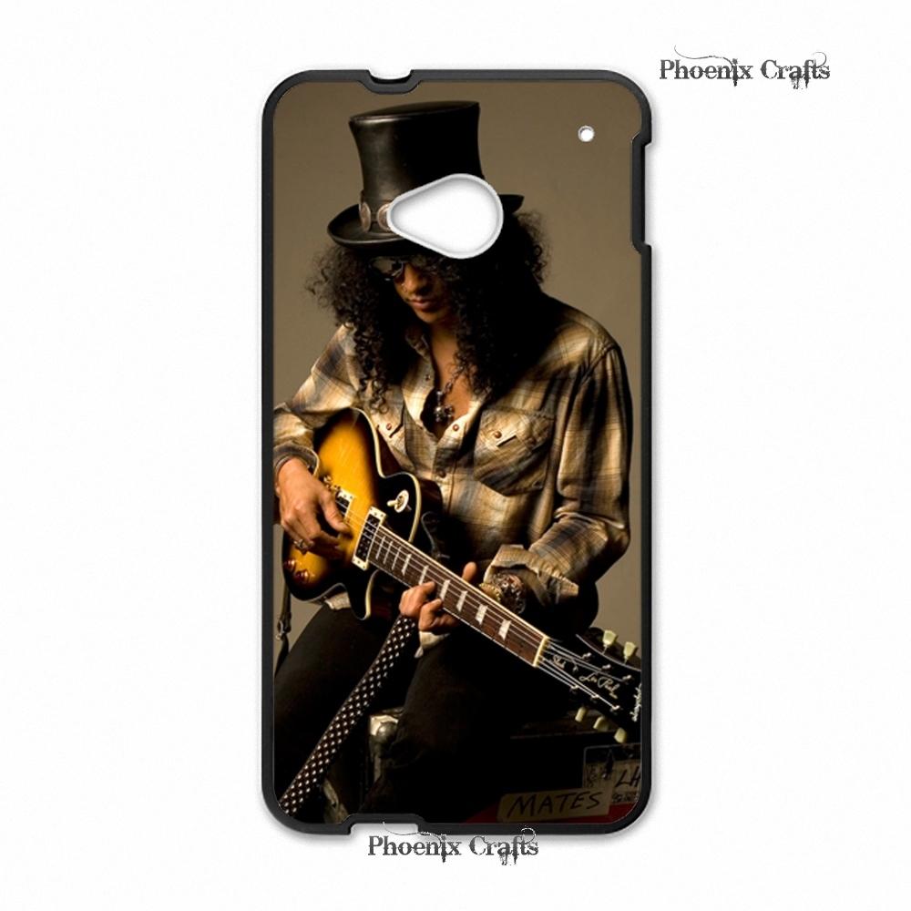 Premium Designs Guns n Roses Retro Slash wooden case branco caso Hard plastic case for HTC One m7 Replacement(China (Mainland))