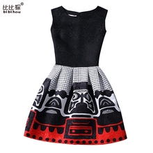 Buy 2017 Girl Dress Children Summer Girls Dresses 2016 Black Sleeveless Print Party Dresses Girls Princess Dress Children Clothes for $6.42 in AliExpress store