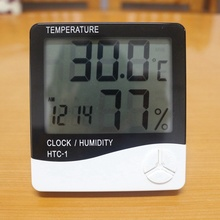 Buy High accuracy HTC-1 Weather Station Indoor Digital Thermometer Hygrometer Electronic Temperature Humidity Meter Clock for $6.35 in AliExpress store
