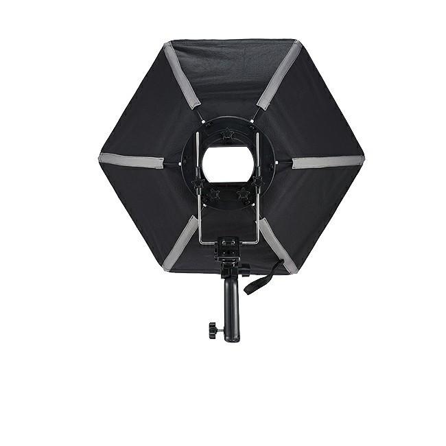 ถูก Selensถ่ายภาพซอฟท์กล่อง50เซนติเมตรหกเหลี่ยมS OftboxกับL-รูปร่างอะแดปเตอร์แหวนอุปกรณ์สตูดิโอถ่ายภาพ