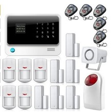 free DHL WIFI + GSM + GPRS Gsm alarm systems , wifi & GSM network home security camera system safety alarm systems