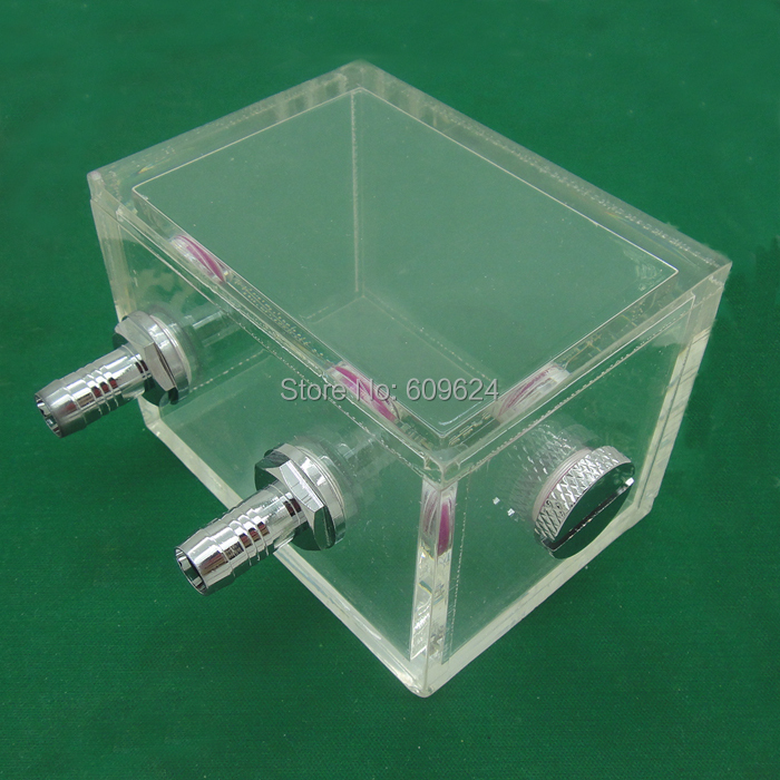 Acrylic water tank 200ML 80x60x60mm for water cooling radiator computer cpu water block(China (Mainland))