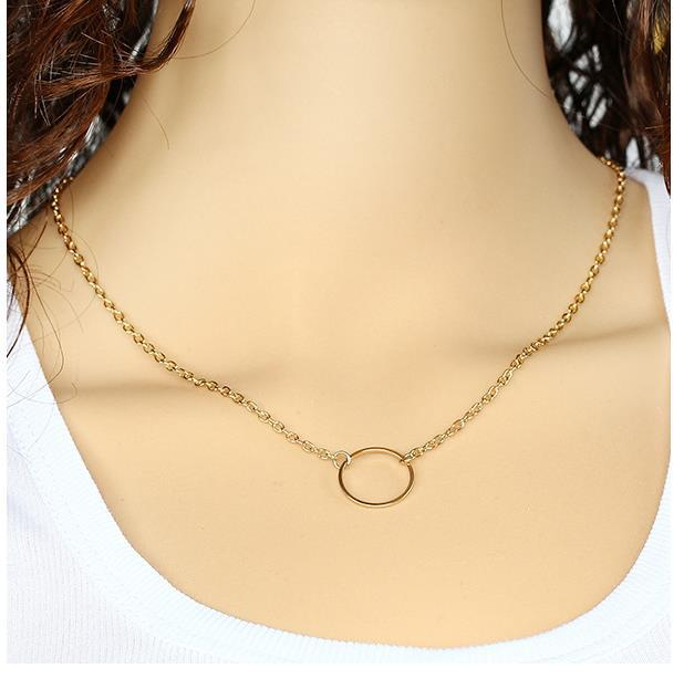 Brand Designer ZA Gold Colored Buckle Long Chain Necklace Costume Banquet Accesories Birthday Wedding Decoration Favor(China (Mainland))